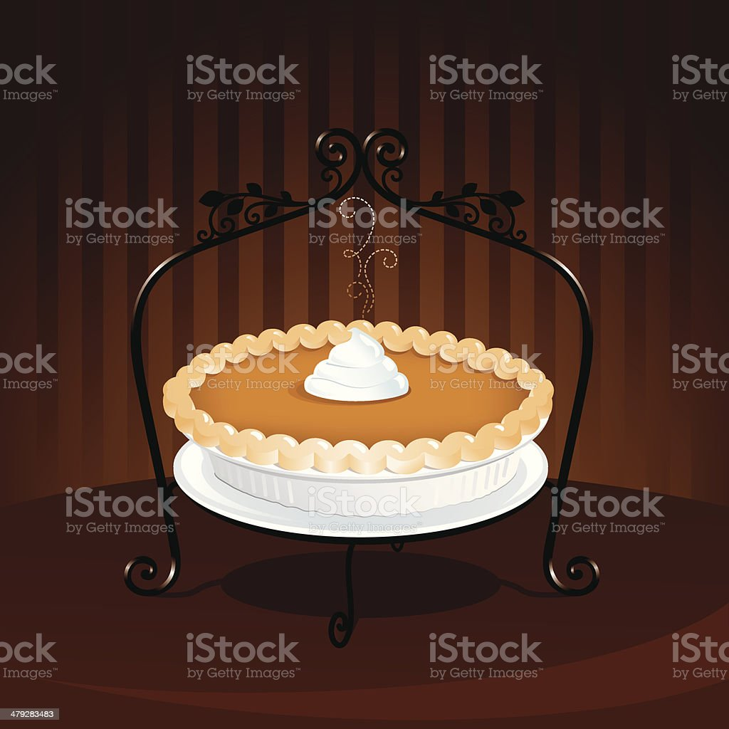 Pumpkin Pie vector art illustration