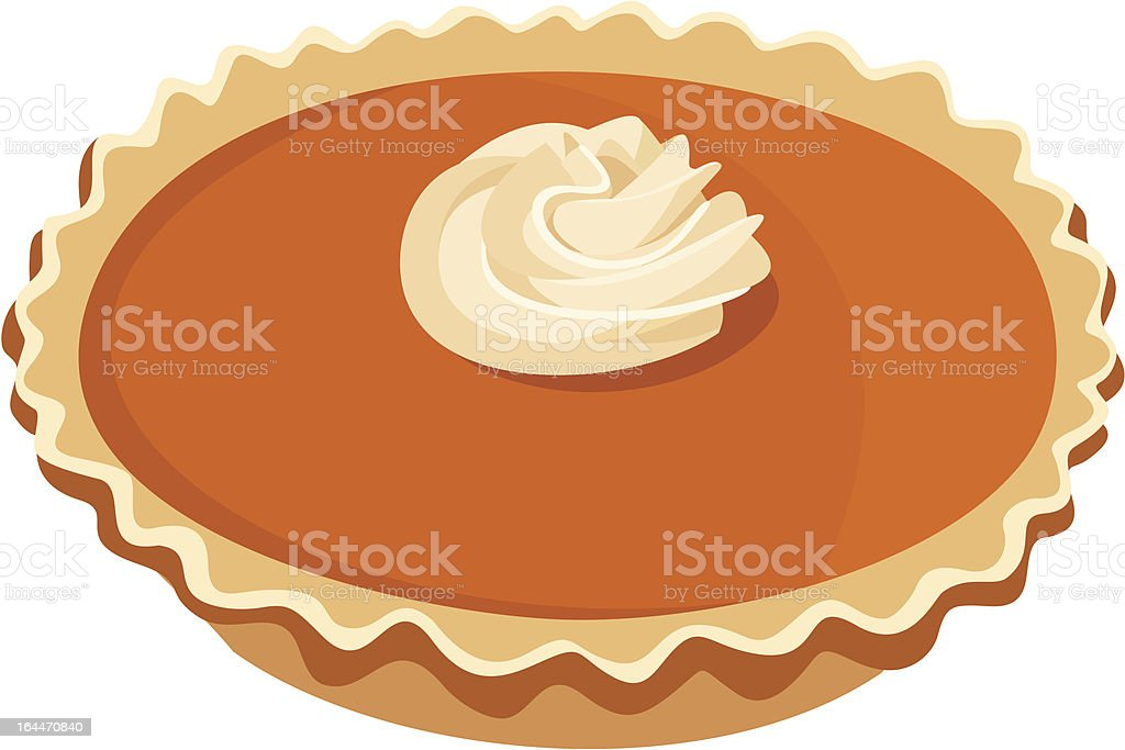 Pumpkin pie. Vector illustration. vector art illustration