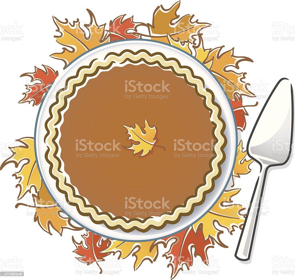 Pumpkin Pie2 C royalty-free stock vector art