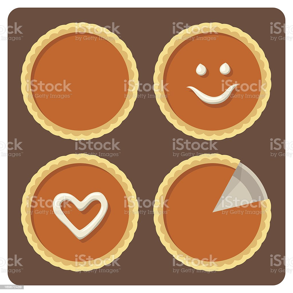Pumpkin Pies vector art illustration