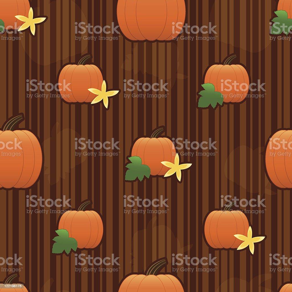 Pumpkin Seamless Tile vector art illustration