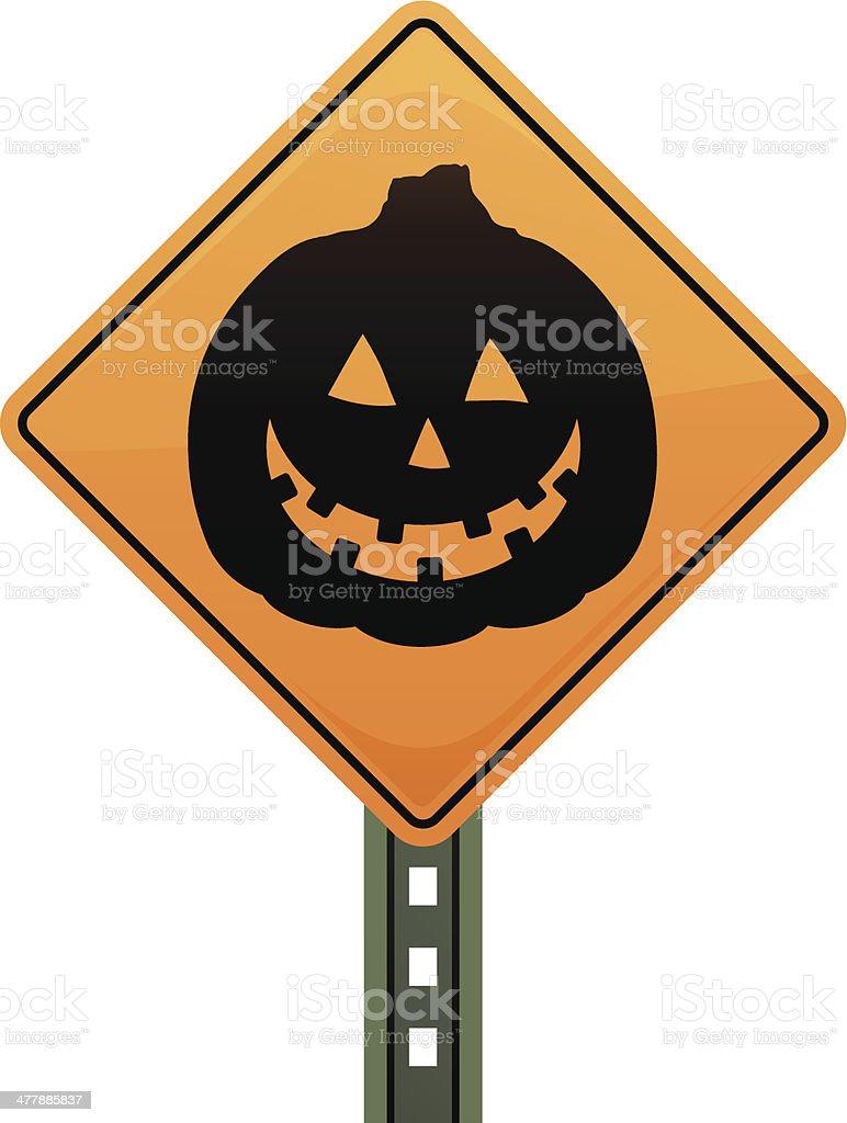 Pumpkin Sign royalty-free stock vector art