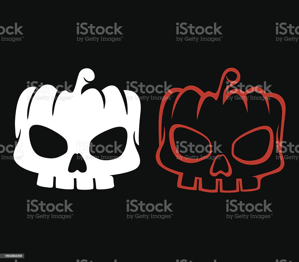Pumpkin skull royalty-free stock vector art