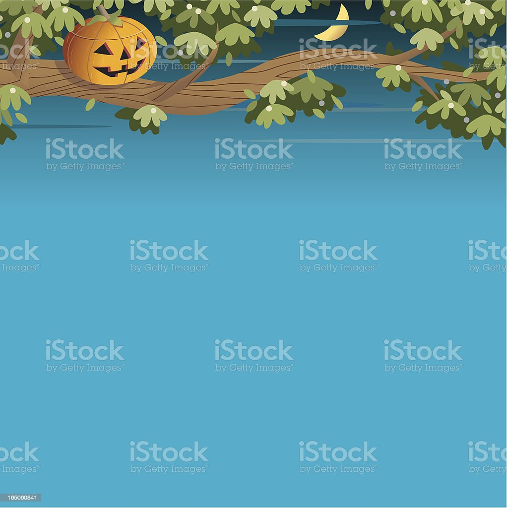 Pumpkin Tree royalty-free stock vector art