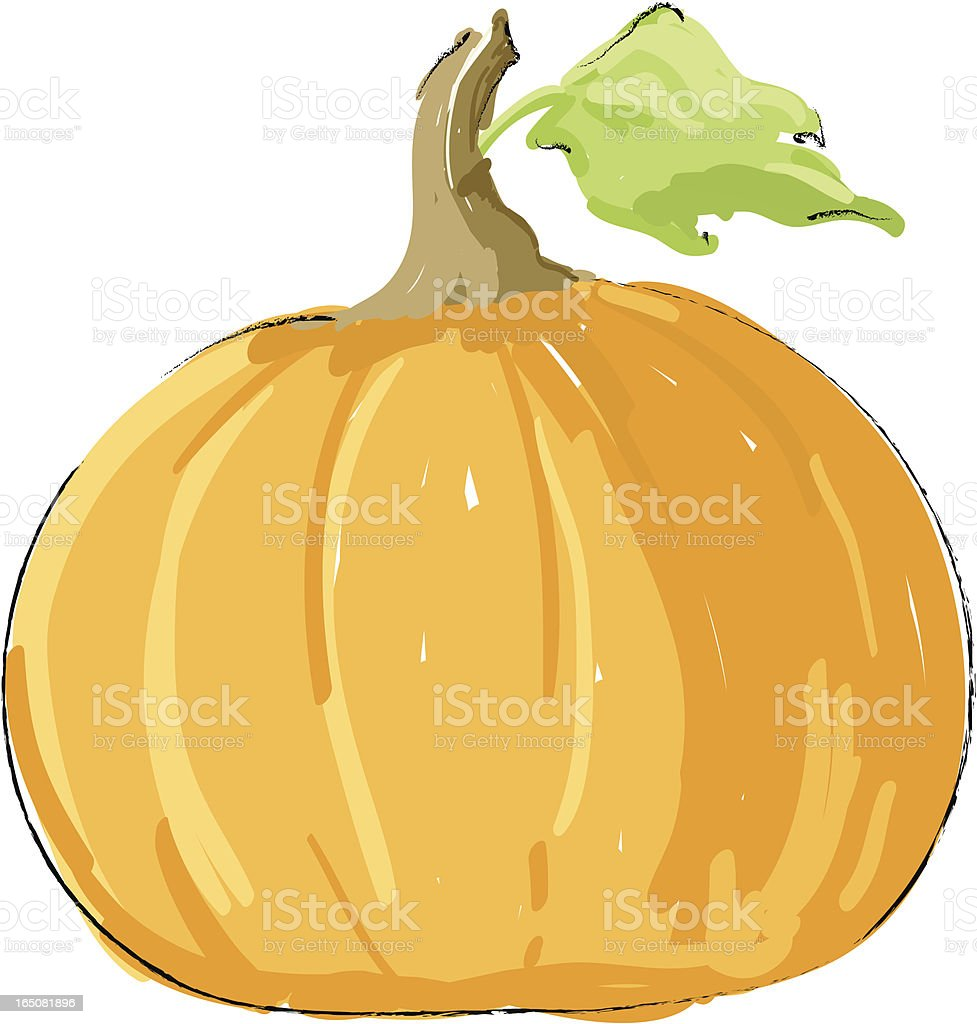 Pumpkin royalty-free stock vector art