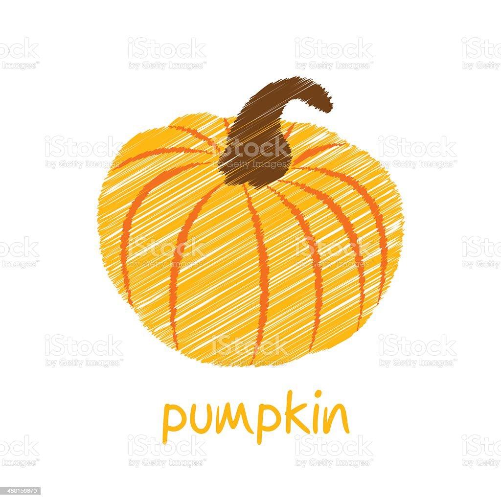 pumpkin vegetable design vector art illustration