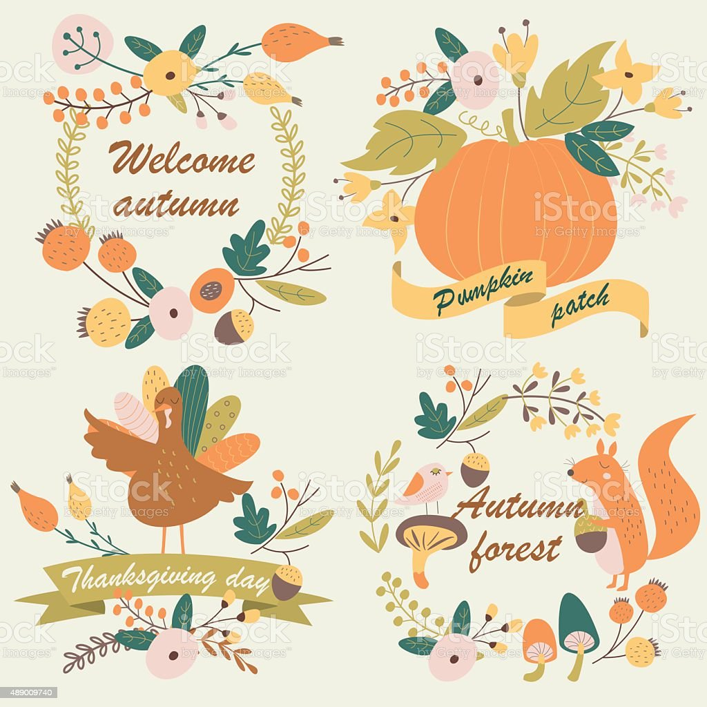 pumpkinpatch vector art illustration