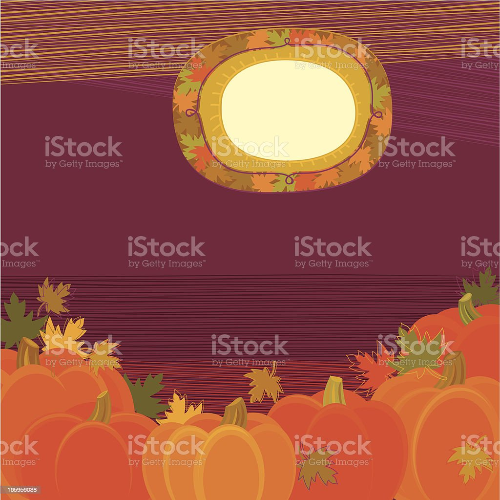 Pumpkins Background royalty-free stock vector art