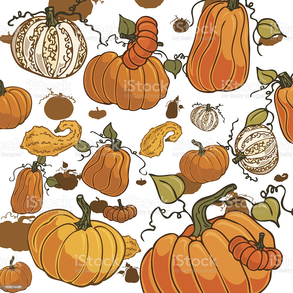 Pumpkins Falling royalty-free stock vector art