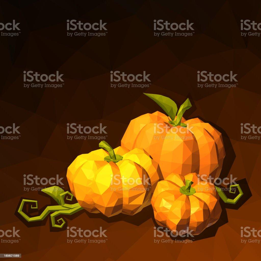 Pumpkins on dark background royalty-free stock vector art