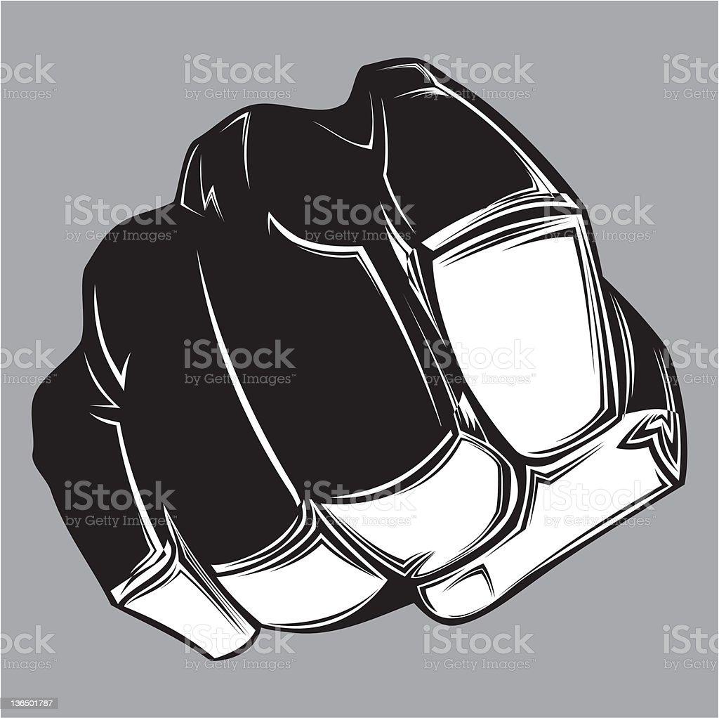 Punch vector art illustration
