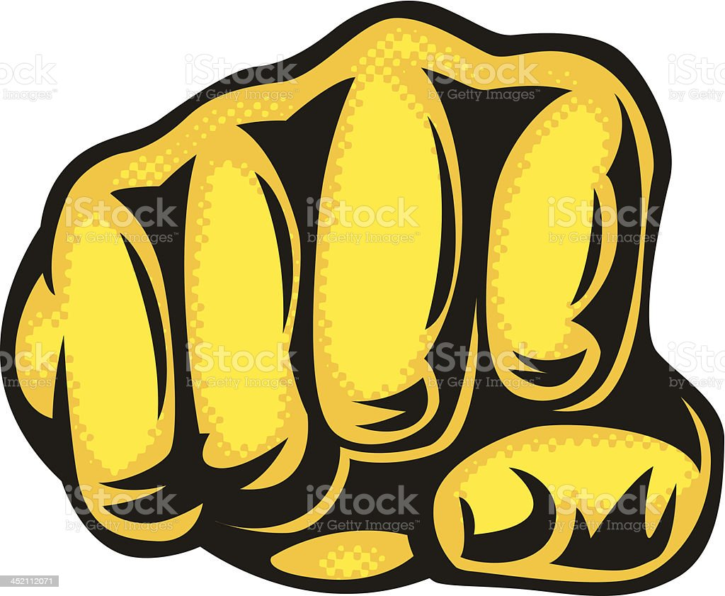 punching fist royalty-free stock vector art