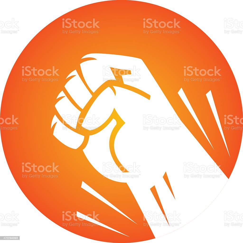 punching icon royalty-free stock vector art