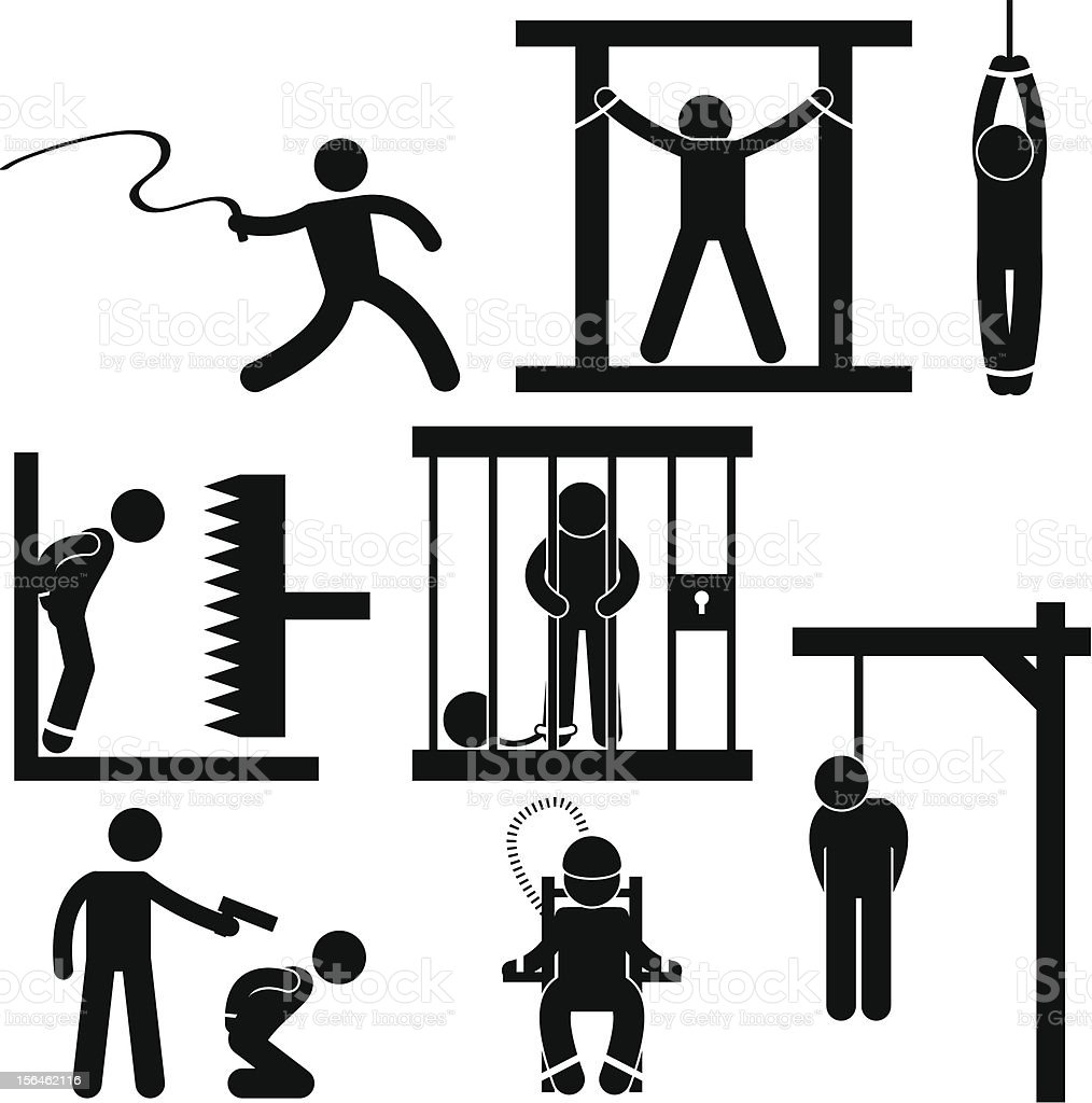 Punishment and Execution Pictogram royalty-free stock vector art