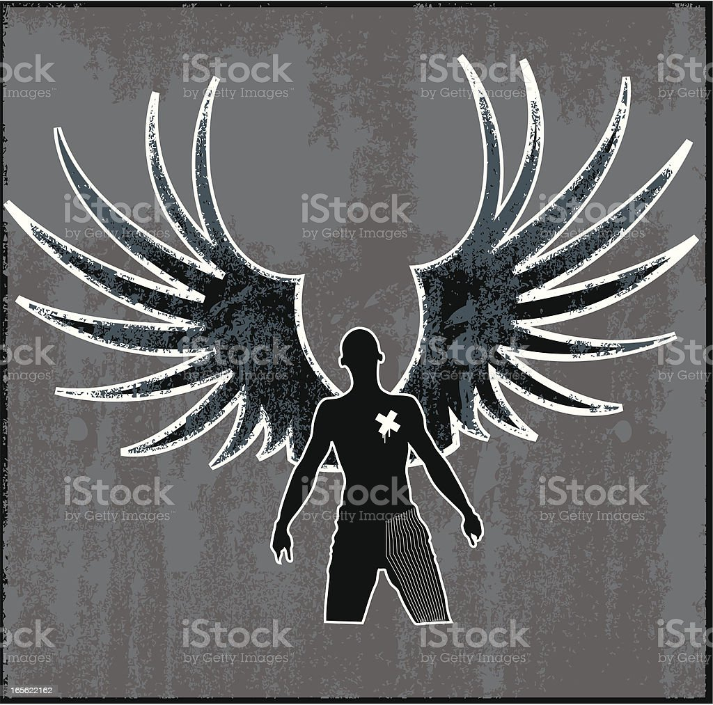 punk angel royalty-free stock vector art