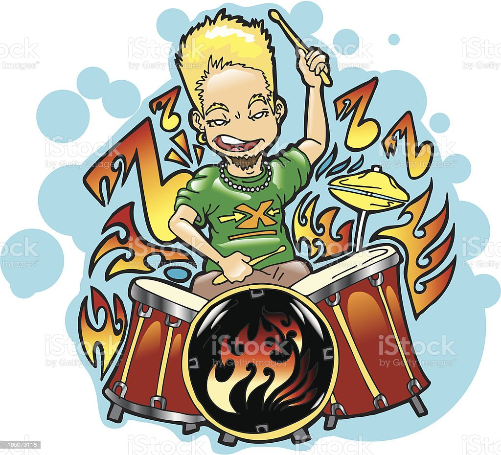 Punk Drummer royalty-free stock vector art