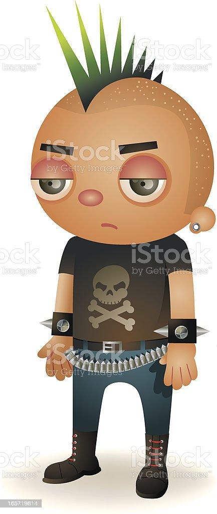 Punk Kid vector art illustration