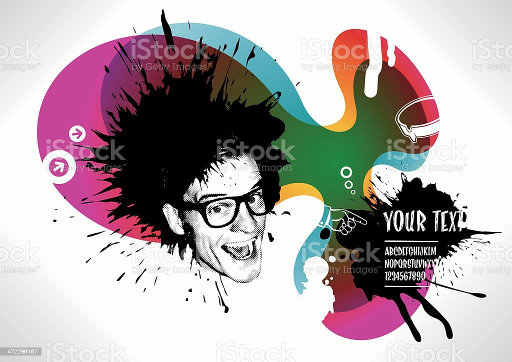 punk rock background royalty-free stock vector art