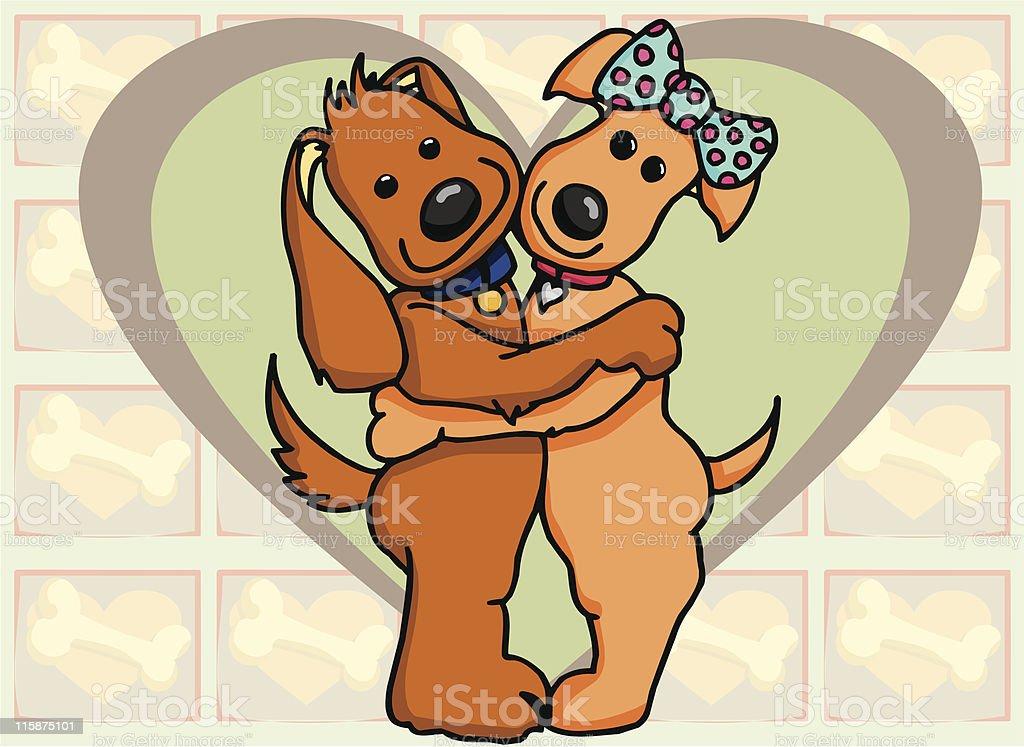 Puppy Love 1 royalty-free stock vector art