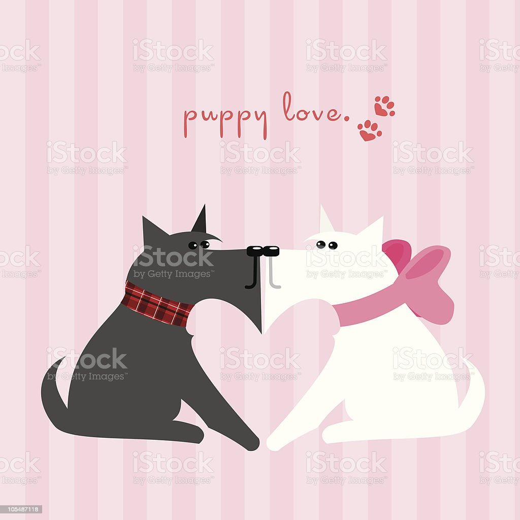 Puppy Love royalty-free stock vector art