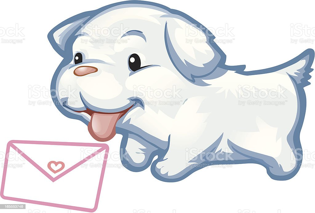 Puppy Mail royalty-free stock vector art