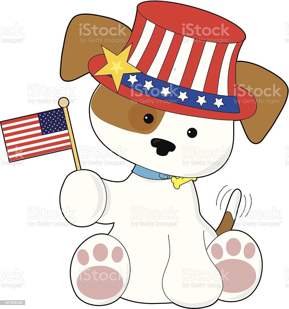 Puppy Patriotic royalty-free stock vector art