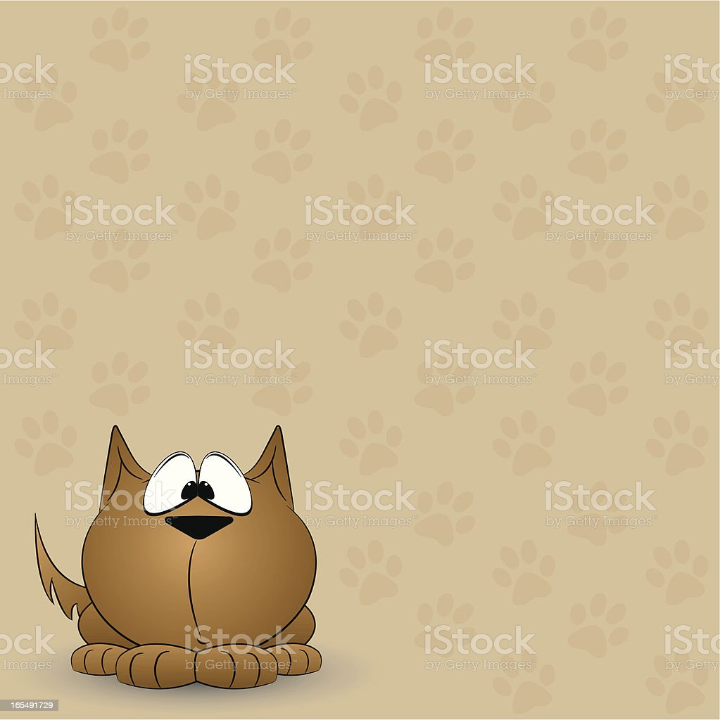 Puppy Pawprint Background royalty-free stock vector art