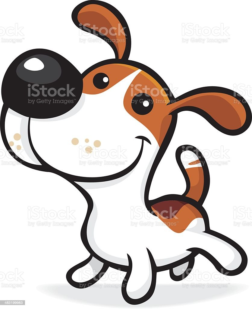 puppy vector art illustration