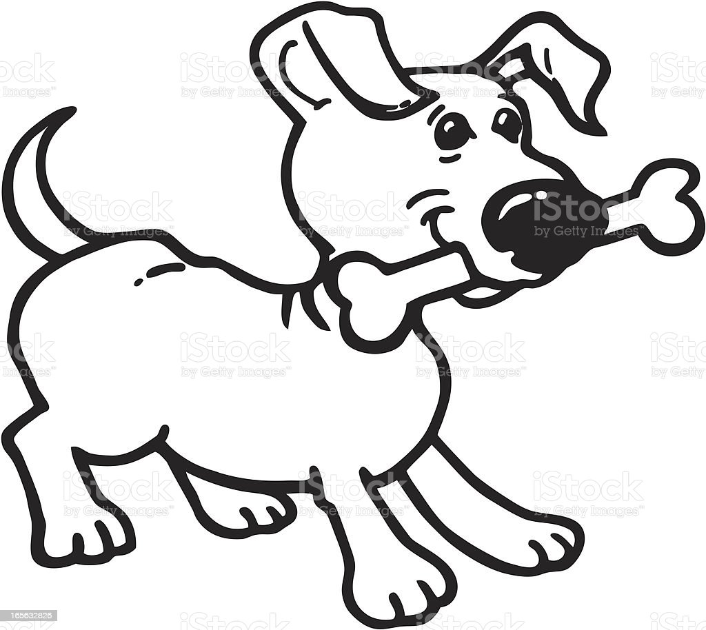 Puppy with Bone royalty-free stock vector art