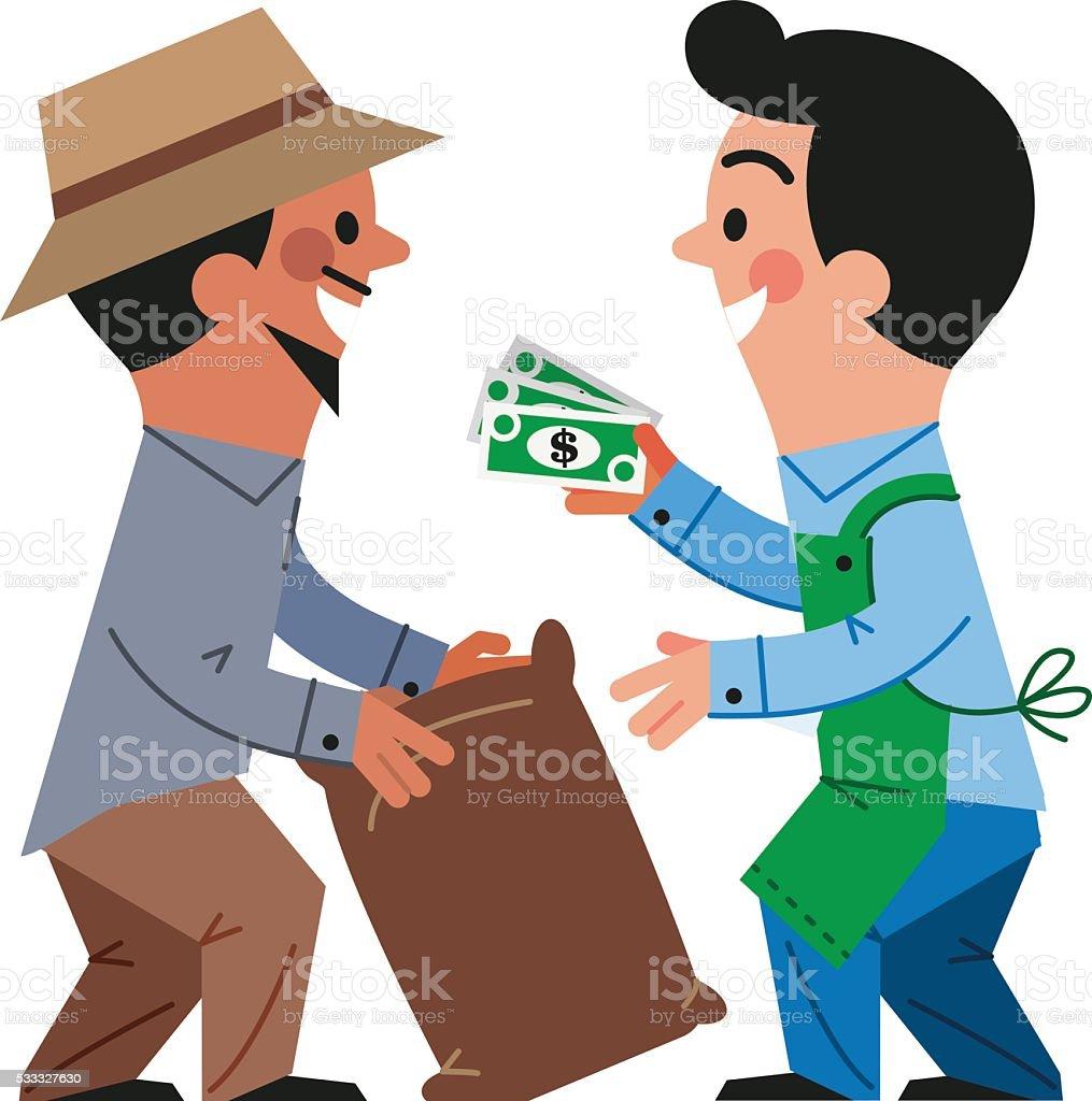 Purchase commodities vector art illustration