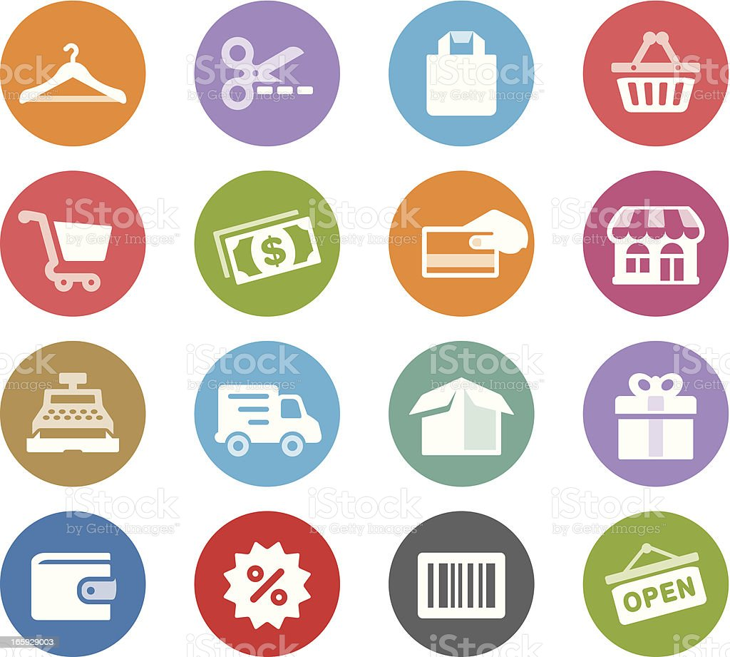 Purchase / Wheelico icons royalty-free stock vector art