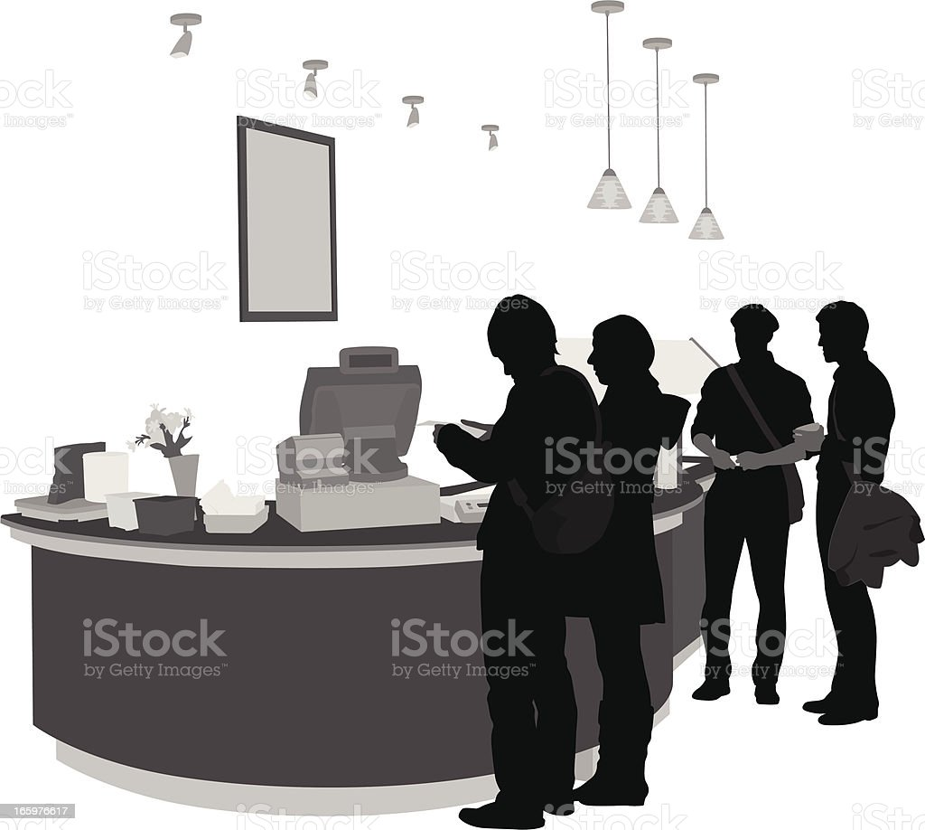Purchasing Vector Silhouette vector art illustration