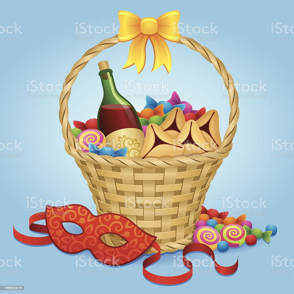 Purim treats royalty-free stock vector art