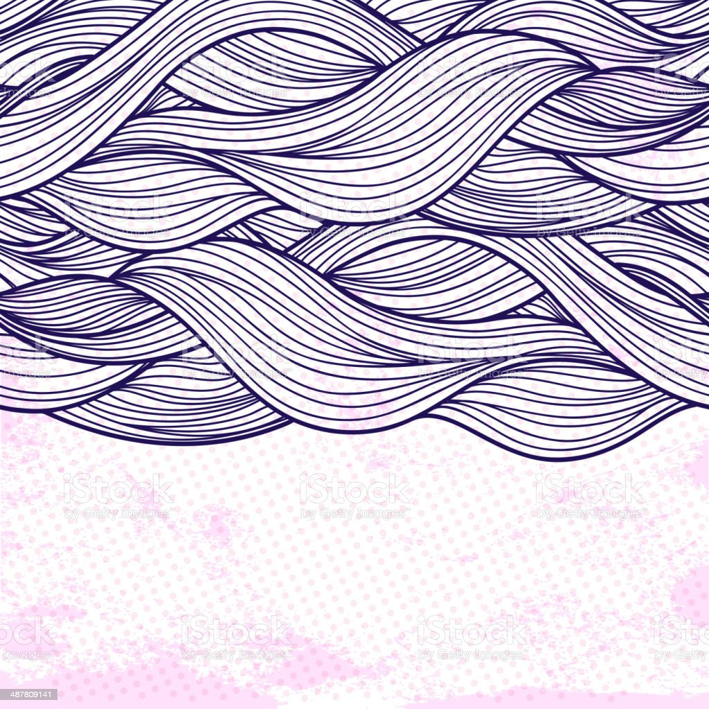 Purple abstract waves background vector art illustration