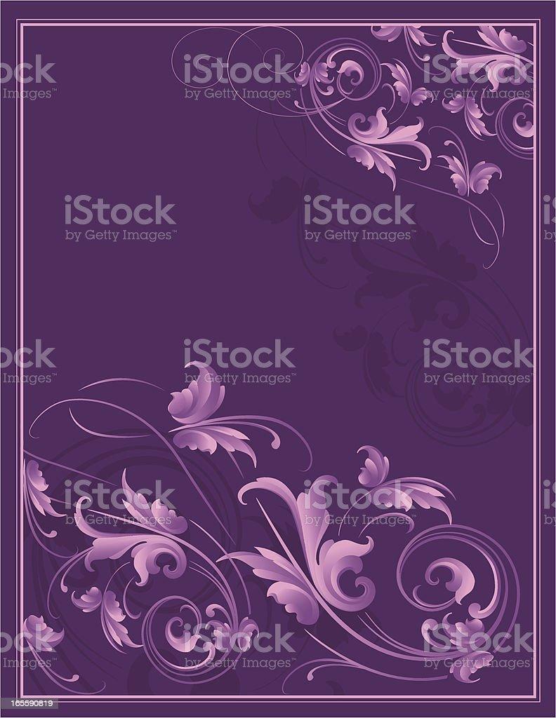 Purple Arabesque royalty-free stock vector art