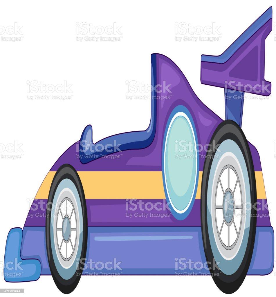 purple car royalty-free stock vector art