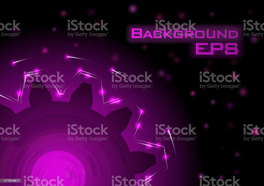 purple cogwheel royalty-free stock vector art