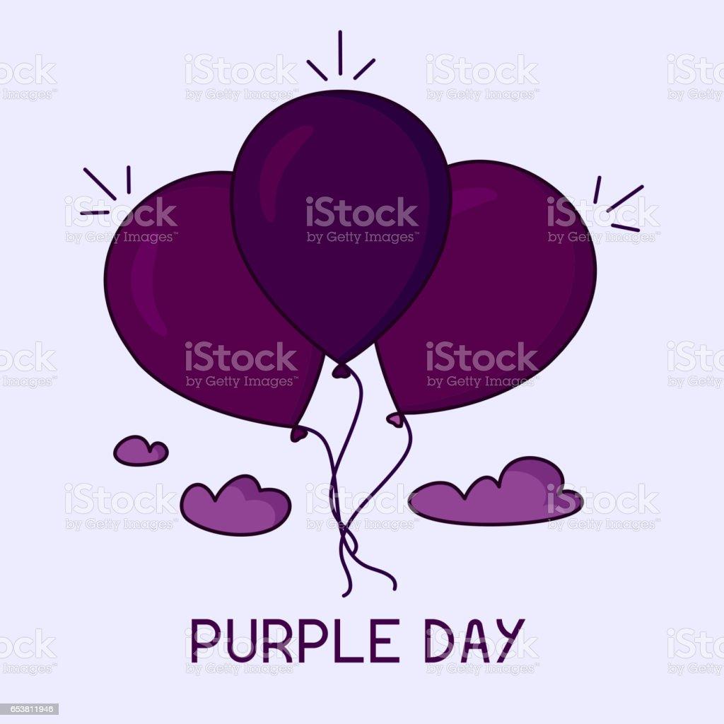 Purple day poster vector art illustration