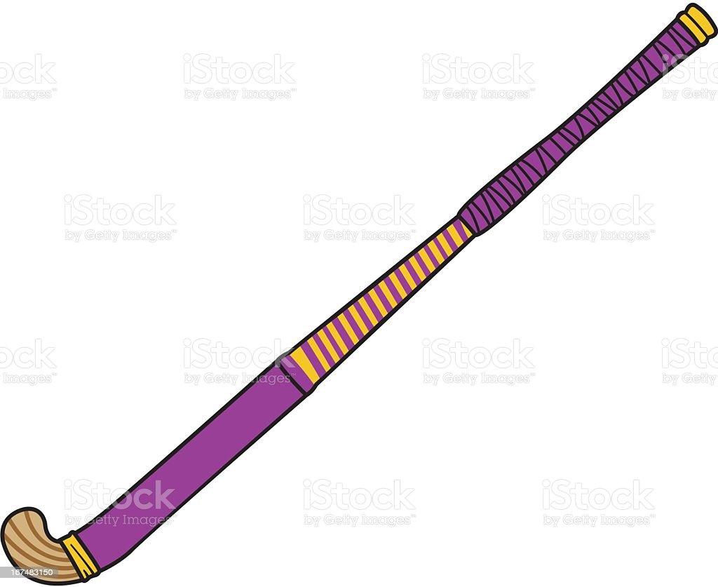 Purple Field Hockey Stick royalty-free stock vector art