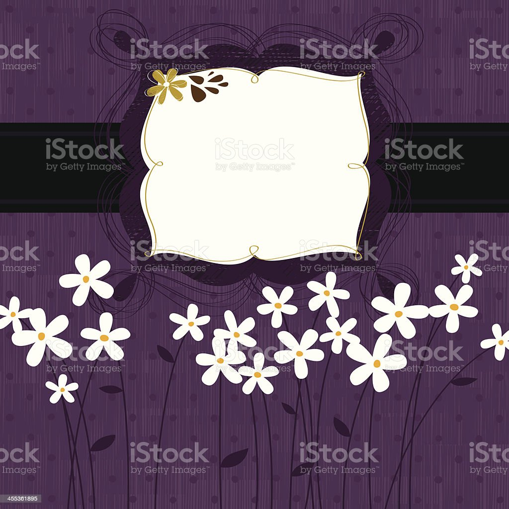 Purple floral frame royalty-free stock vector art