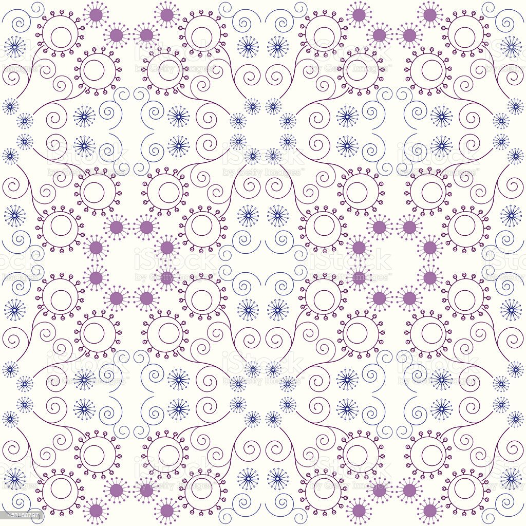 Purple floral seamless pattern royalty-free stock vector art