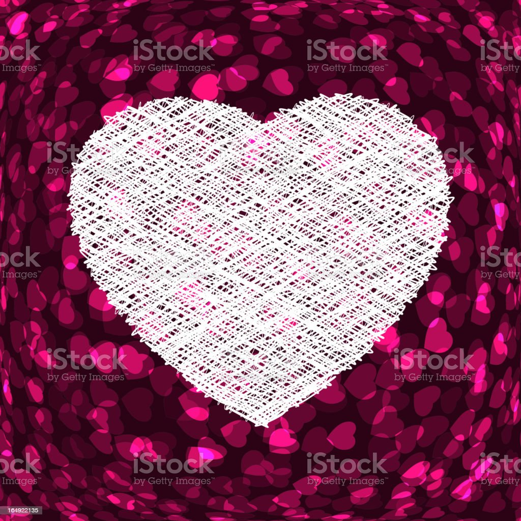 Purple frame in the shape of heart. EPS 8 royalty-free stock vector art