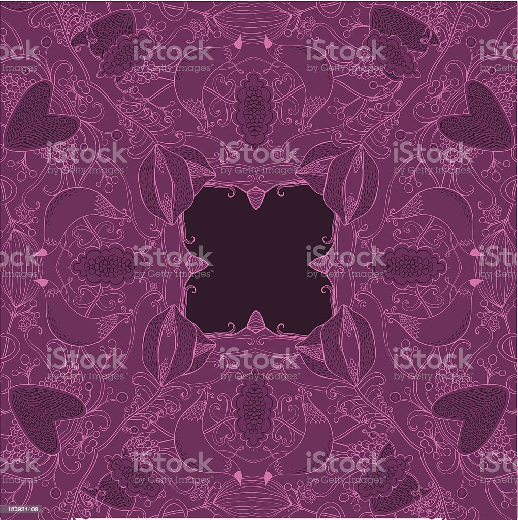 Purple fun royalty-free stock vector art