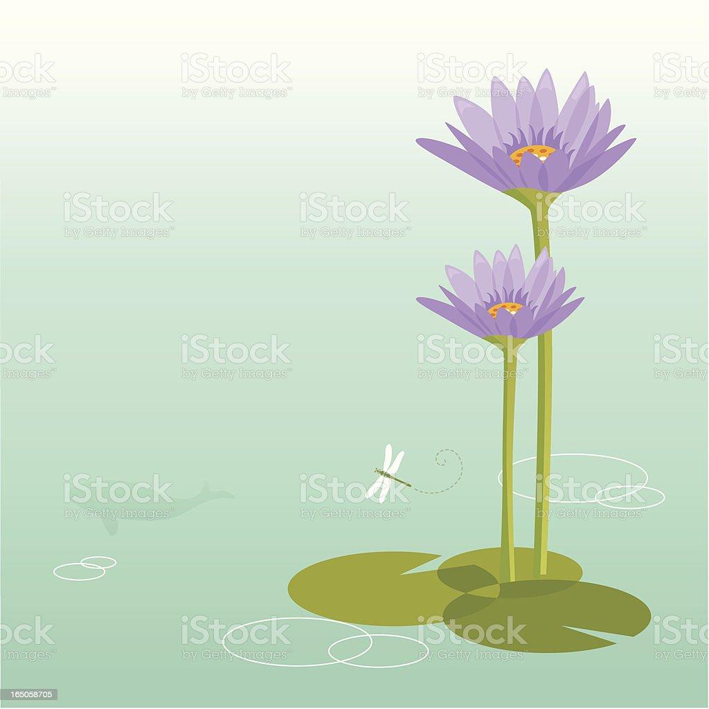 purple lotus royalty-free stock vector art