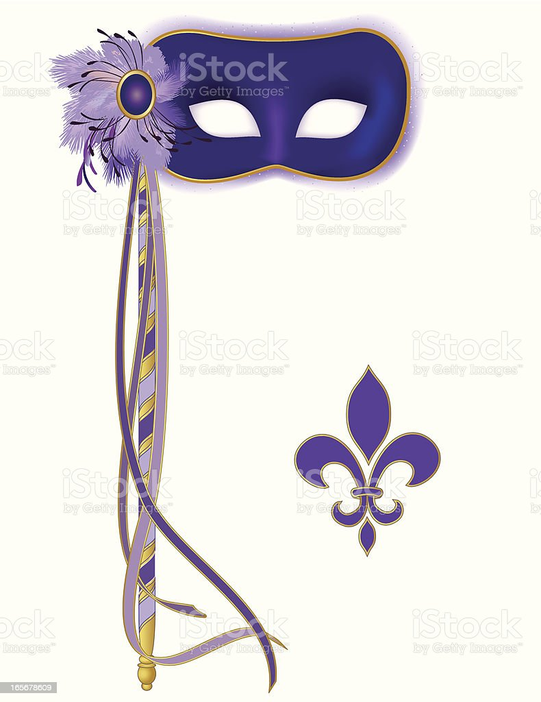Purple Mask royalty-free stock vector art