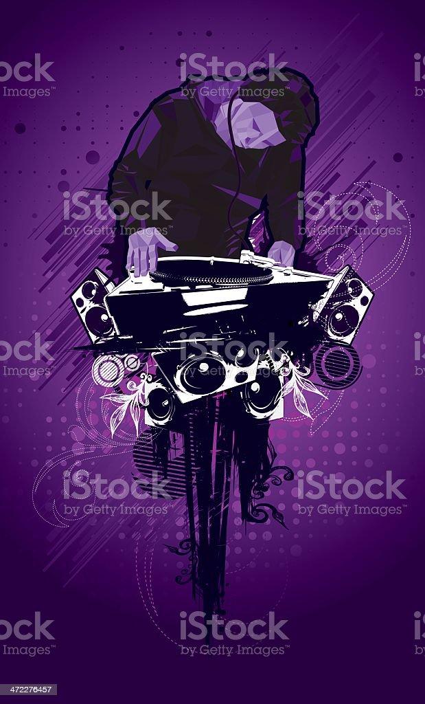 Purple Music royalty-free stock vector art