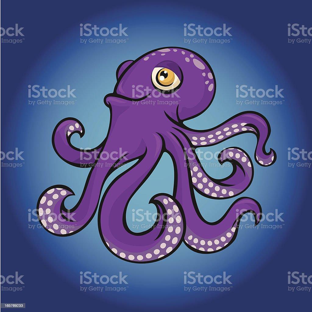 purple octopus royalty-free stock vector art