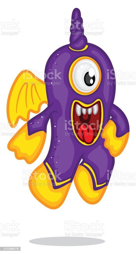 Purple People Eater royalty-free stock vector art