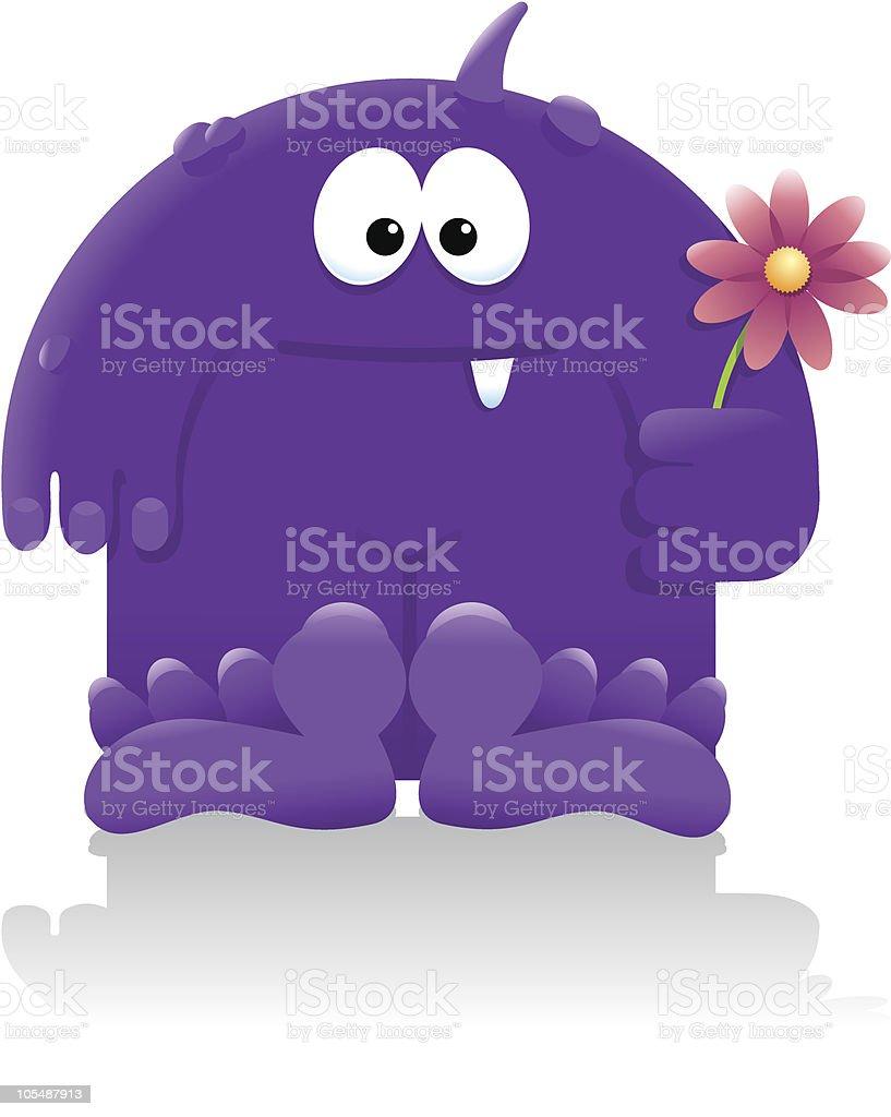 Purple People Greeter royalty-free stock vector art