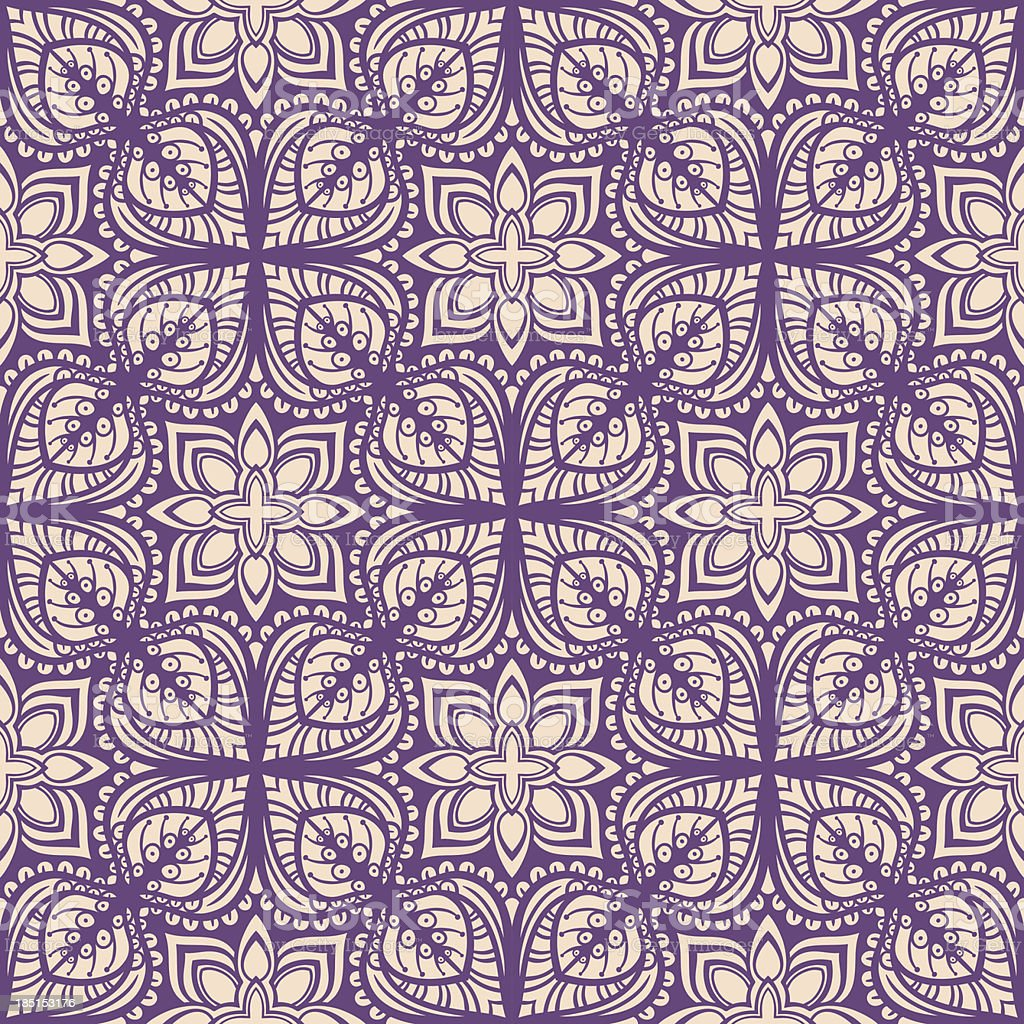purple retro floral pattern royalty-free stock vector art